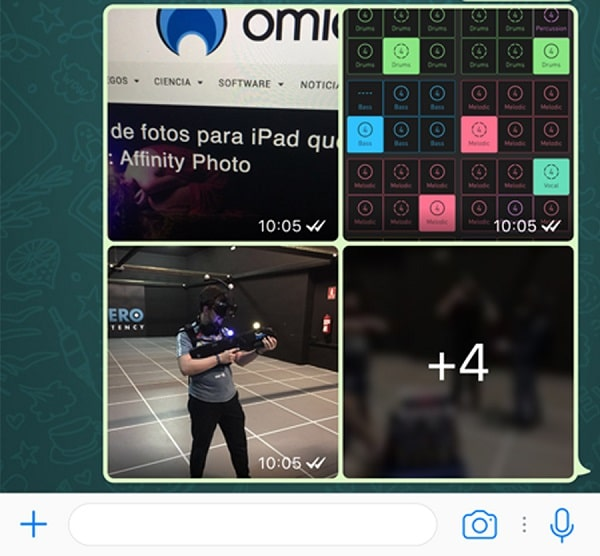 whatsapp album de fotos y filtros