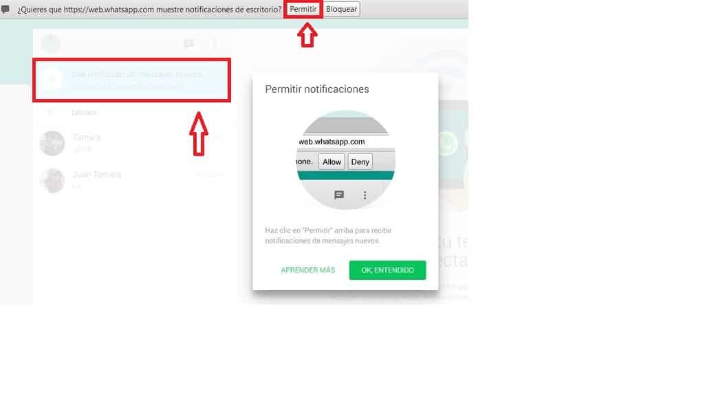 notificaciones web wasap